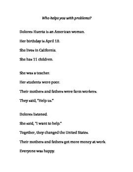 Dolores Huerta Multi-Level Lesson