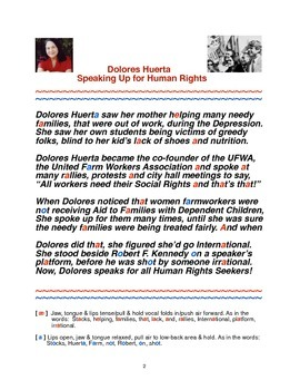 Dolores Huerta Speaking Up for Human Rights