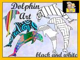 Dolphin Art  Coloring Activities  Clip art