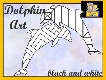Dolphin Art - Coloring Activities - Clipart