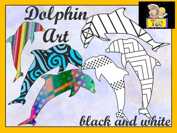 Summer - Dolphin Art - Coloring Activities - Clipart