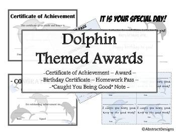 Dolphin Awards Set