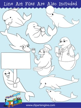 Dolphin Clip Art Collection