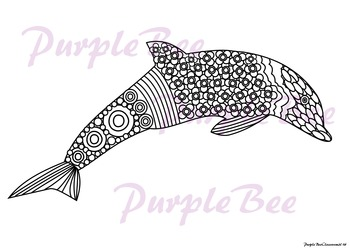 Summer Coloring Page-Dolphin