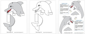 """Dolphin Craft and Letter """"D"""" Tracing Page"""