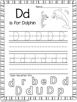 Dolphin Craft and Letter