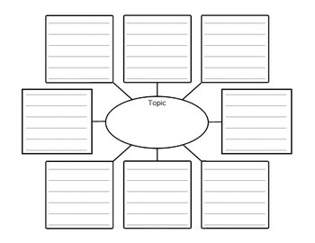Dolphin Diagram and Lined Graphic Organizer