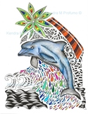 Dolphin Dream Coloring Sheet