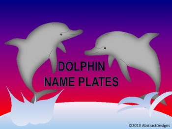 Dolphin Name Plates