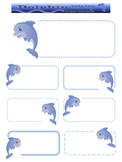 Dolphin Name Tags