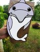 Dolphin Paper Bag Puppet, Puppet template, Porpoise