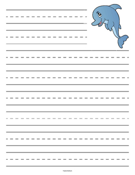 Dolphin Primary Lined Paper