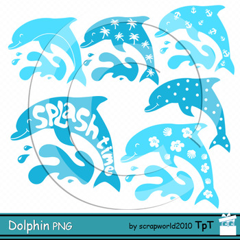 Dolphin clipart Splash time clipart silhuette