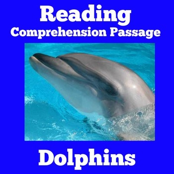 Dolphins Passage   Dolphins Reading Passage   Dolphins Activity