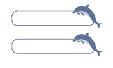 Dolphins Name Tags/Labels  -Customizable