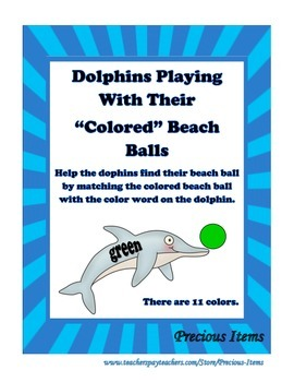 "Dolphins Playing With Their ""Colored"" Beach Balls"