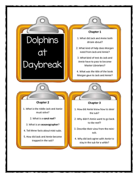 Magic Tree House DOLPHINS AT DAYBREAK - Discussion Cards