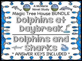 Dolphins at Daybreak   Dolphins and Sharks : Magic Tree House BUNDLE  (60 pages)