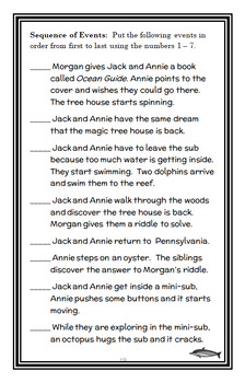 Dolphins at Daybreak: Magic Tree House #9 (Osborne) Novel Study / Comprehension