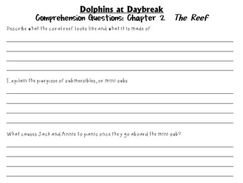 Dolphins at Daybreak by Mary Pope Osborne:  A Complete Literature Study!