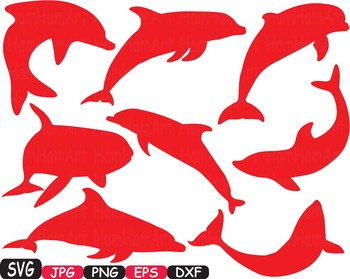 Dolphins school Clipart party ocean sea summer animals shape Dolphin fish -399s