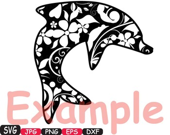 Dolphins school Clipart party ocean sea summer animals shape Dolphin fish -413s