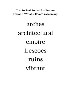 Domain 4 Vocabulary Posters: Ancient Rome