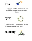 Domain 6 Cycles in Nature common core Vocabulary Cards