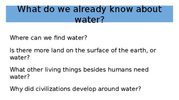 Domain 6 Lesson 9 The Water Cycle