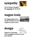 Domain 7 Westward Expansion common core Vocabulary cards