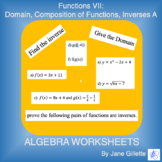 Function VII - Domain, Composition of Functions, Inverses A