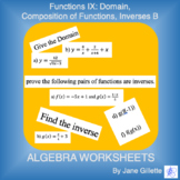 Functions IX - Domain, Composition of Functions, Inverses B