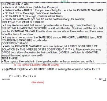 Domain EE (Grades 6-8): CONCEPT Questions (142)
