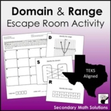 Domain & Range Escape Room Activity (A2A, A12A)
