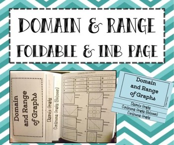 FOLDABLE & INB Matching Page - Algebra - Domain & Range of Graphs