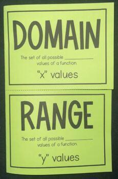 Domain & Range (Foldable)