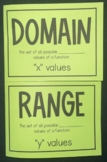 Domain & Range (Foldable)
