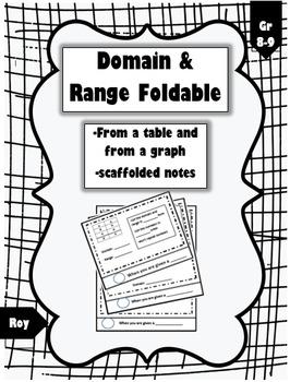 Domain & Range Foldable