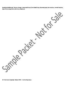 Domain & Range Foldable Graphic Organizer and Lesson Plan