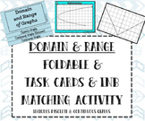 Domain & Range Foldable, Matching Task Cards, and INB Matc