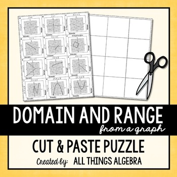 Domain and Range (From a Graph) Puzzle