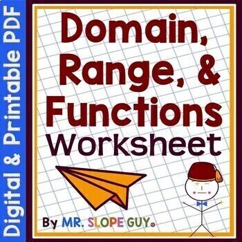 Domain Range & Function PDF Activity / Math Worksheet