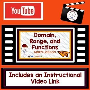 Domain Range & Function PDF Graphing Activity / Math Worksheet