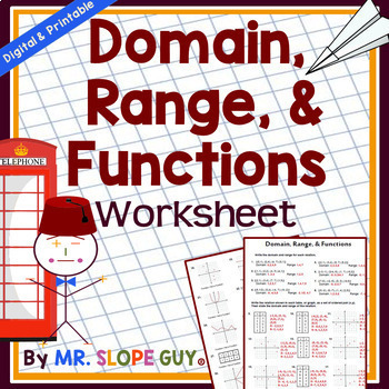 31 Practical Domain and Range Worksheets Graphics   Tampascifi.us