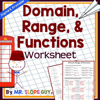 31 Practical Domain and Range Worksheets Graphics | Tampascifi.us