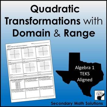 Quadratic Transformations with Domain & Range (A7C)