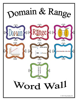 Domain & Range Word Wall