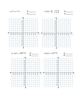 Domain & Range Worksheet