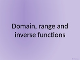 Domain, Range and inverse functions