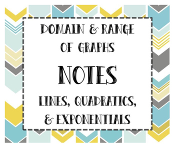 Domain & Range of Linear, Quadratic, & Exponential Functions INB NOTES